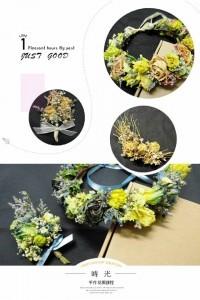 手作花卉|乾燥花圈|新娘飾品