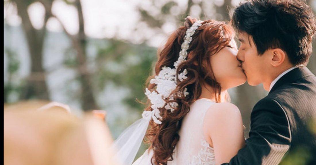戶外證婚髮型|接吻